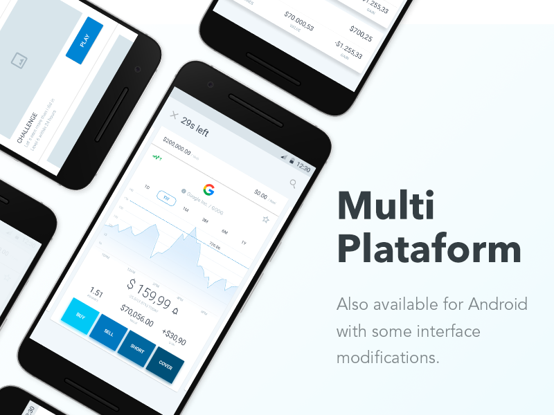 Verb for Android too! 👍🏻 ui ux ios game stock market white clean design modern app