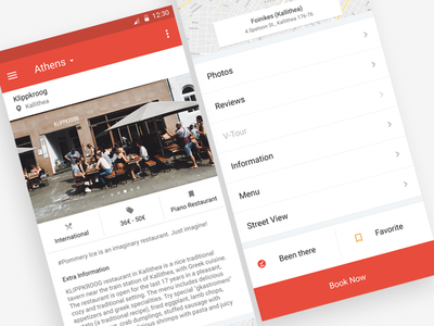 Restaurant Search for an Android App app ux ui about page info restaurant search android material page hotel