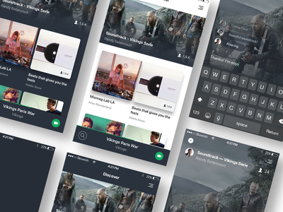 Streaming for music and video iphone ios app soundtrack stream feedback video music streaming ux ui