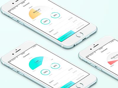 Scoreboard for iOS graphics analitics designers ios iphone ux design ui mobile app