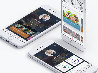 Modern Profile for Healthy App white ios modern profile interface design health ux ui