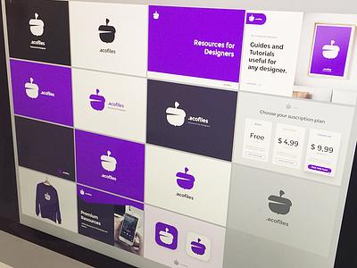 .acofiles — Brand Exploration 🌰 icon brand marketplace branding design exploration logo