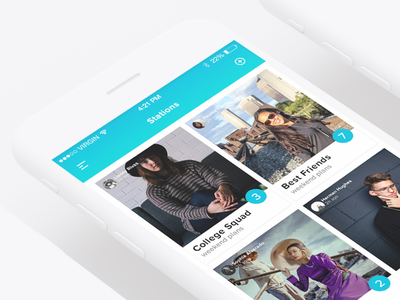 Station — Project Showcase station ios app mobile design ux ui interface