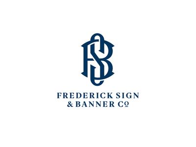 Frederick Sign & Banner Co. Logo b s sign company monogram letter mark monogram logo monogram design monogram brand design brand identity branding brand logo design logo