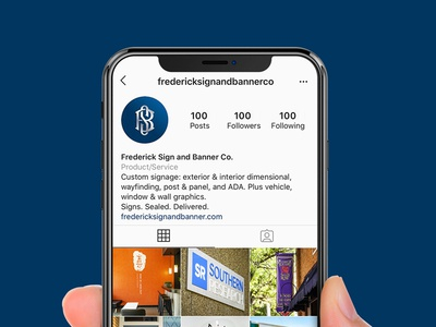 Frederick Sign & Banner Co. Social Media Assets monogram letter mark monogram design monogram logo monogram brand design branding brand logo design logo social media design