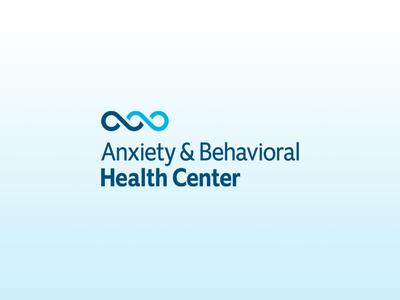 Anxiety & Behavioral Health Center Primary Logo ambigram blue anxiety brand identity healthcare logo healthcare mental health b a wave brand design branding brand logo design logo