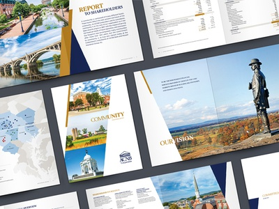 ACNB Corporation 2019 Annual Review corporate design print layout corporate branding bank publication publication design annual review annual report