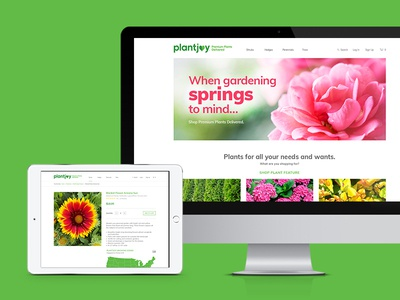 Plantjoy Website planting branding design branding brand flowers ecommerce design ecommerce plants plant tablet design website website design