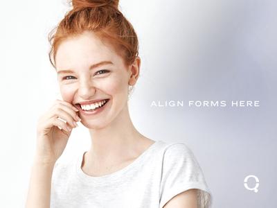 Queue™ Aligners Brand Tagline identity brand branding orthodontist orthodontics aligners q brandmark tagline