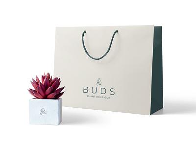 Buds Packaging print identity design succulent succulents plantshop buds bud plants packaging design packaging logo design logo brand and identity branding brand