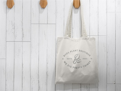 Buds Tote Bag branding and identity seal bag plantshop plants buds bud tote bag design identity logo design logo branding brand