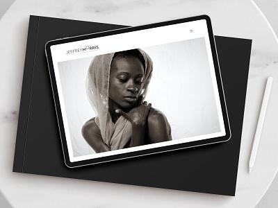 Jeffrey Morris Photography Website photographer photography website graphic design design identity brand branding logo design logo