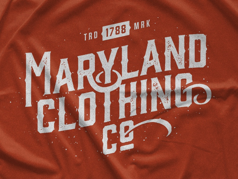 Maryland Clothing Co. Customized Lettering Tee 1788 trademark maryland apparel t-shirt tee vintage mark branding design lettering typography