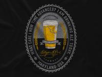 Maryland Clothing Co  Edgar Allan Poe Drink Local Illustration