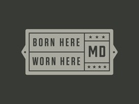 Maryland Clothing Co. Secondary Mark – Placard