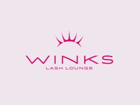 Winks Lash Lounge Primary Logo