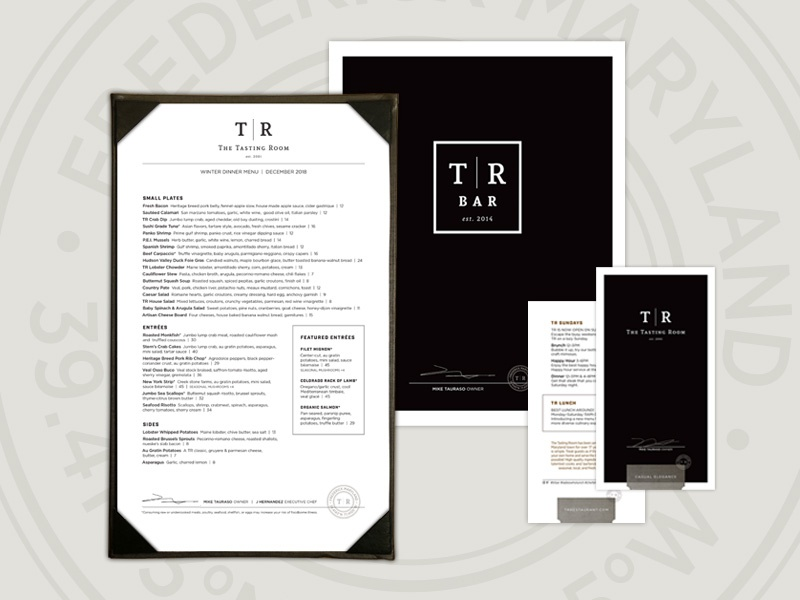 The Tasting Room – Menu Suite wine bar wine branding restaurant design menu design sandwich board bar dining brand branding restaurant branding restaurant menu suite menu