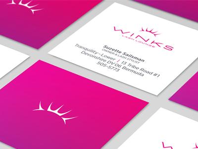 Winks Lash Lounge Business Cards