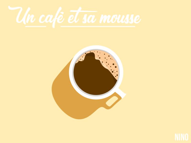 Un café et sa mousse minimal flat vector design illustration