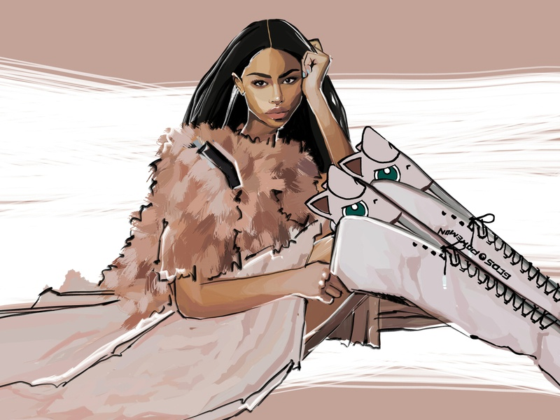 GCDS girl | Digital Illustration album cover brand fashion illustration design fashion cover artwork digitalart illustration digital illustration cover art