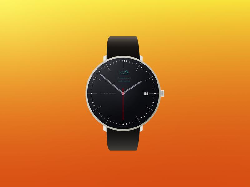Little watch concept sketch watch flat minimalism little