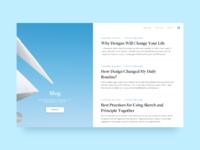 Blog page animation