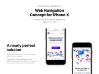 Iphone x web navigation