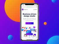 Iphone x web navigation idea full post colorful