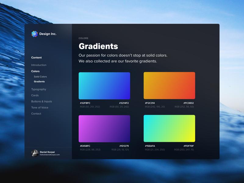Brand Identity Guidelines 2.0 - Dark Mode template fluent mode dark styleguide sketch muzli inspiration guide free branding design
