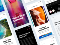 News app concept template full