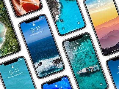 Wallpapers - Summer Edition 2018 mockup homescreen unsplash nature freebie x iphone wallpaper background