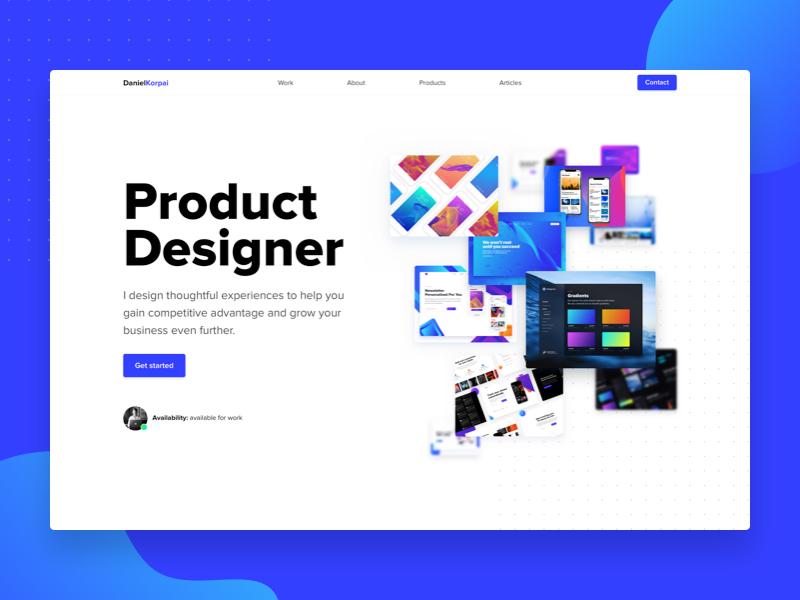 Epic Portfolio Challenge minimalistic minimal ui redesign inspiration hero portfolio website web homepage page landing