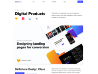 Digital products page