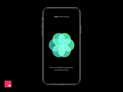 Breathe app for iOS Concept - InVision Studio design tools mobile app ux ui prototype studio interaction design interaction invision studio invisionstudio invision animation