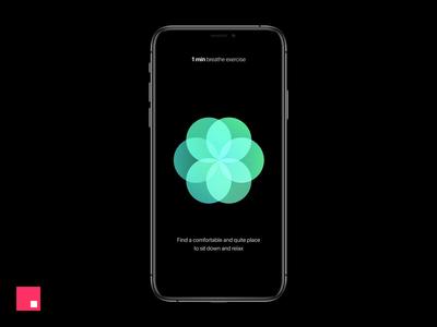 Breathe app for iOS Concept - InVision Studio design tools mobile app ux ui prototype studio interaction design interaction invision studio invisionstudio invision animation