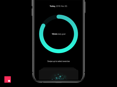 Breathe app for iOS Concept - Daily Goal Completion concept ux ui studio prototype mobile interaction design interaction invision studio invisionstudio invisionapp invision app animation
