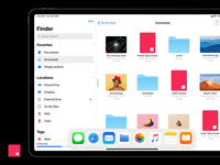 Pro Multitasking - Finder for iPad Concept