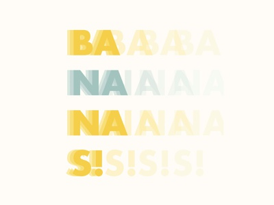 Bananananas web icon flat graphic design typography vector minimal illustrator illustration design