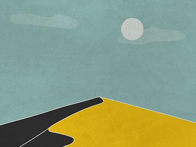 Dune logo icon minimal art vector illustrator flat graphic design illustration design