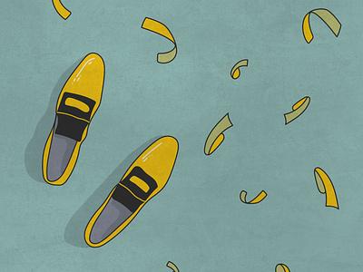 Shoes flat graphic design vector illustrator minimal illustration design