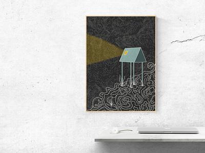 Inktober poster 02 logo typography art icon minimal vector illustrator illustration graphic design design