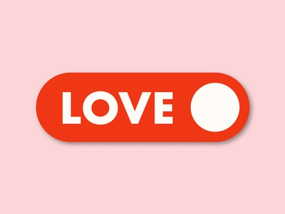 "❤️ Turn ON the ""LOVE button"" ❤️ logo typography art minimal flat vector illustrator illustration graphic design design"