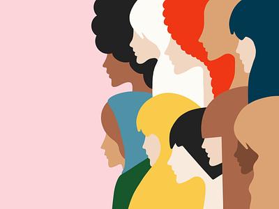 Women's day everyday! ui ux typography logo minimal illustrator vector graphic design illustration design