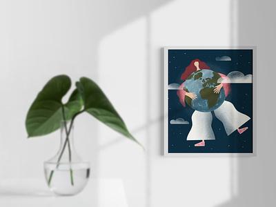 Earth Day Every Day! 🌳🌎 clean website branding graphic design art illustrator minimal vector illustration design