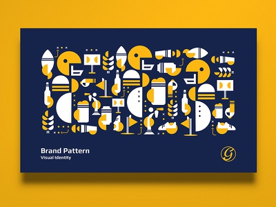 Brand Pattern / Guru Sports Bar vietnam design memphis sport icon flat pattern identity logo branding