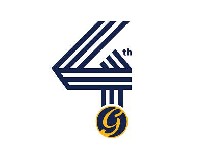 Guru Sports Bar / Logo & Key Visual 4 Year Anniversary restaurant bar vietnam keyvisual anniversary 4 sport icon iconic identity logo branding