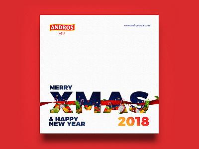Andros Asia / Xmas & Happy New Year 2018 Visual vietnam andros fruit invitation card year new christmas xmas visual identity branding