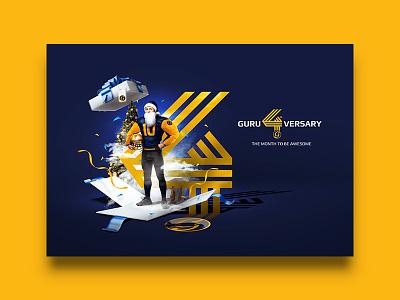 Guru Sport Bar / Key Visual for 4th Guruversary beer bar vietnam anniversary christmas xmas visual key identity branding