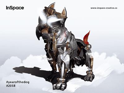 InSpace Creative - Year Of The Dog 2018 2018 dog new year artwork c4d 3d digital art