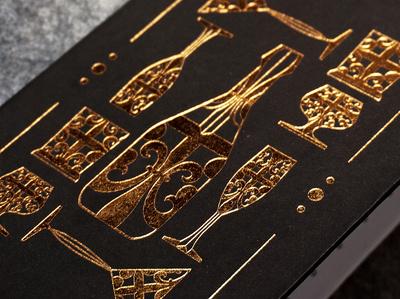 Xing Xing Nightclub / Visual Identity design artdeco icon wine print and pattern nightlife print texture gold visual  identity visual art